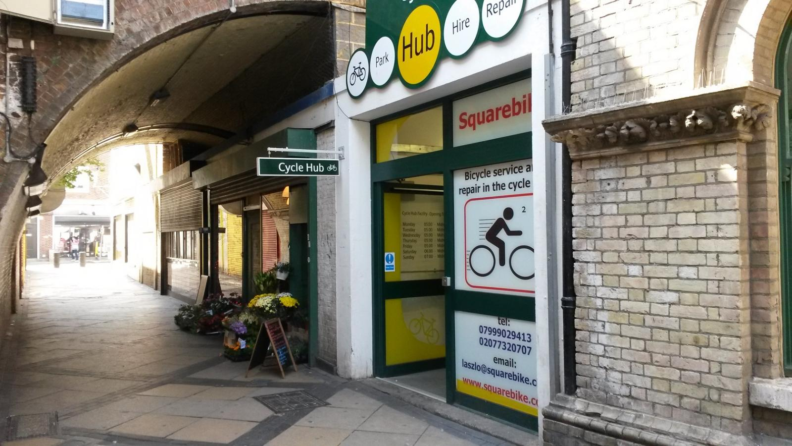 SquareBike Service Station at Peckham Rye Station
